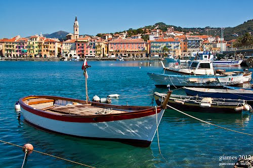 A charming view of Oneglia in the province of Imperia