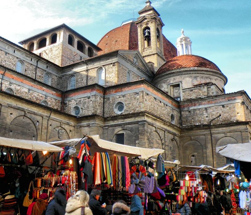 market place in Florence