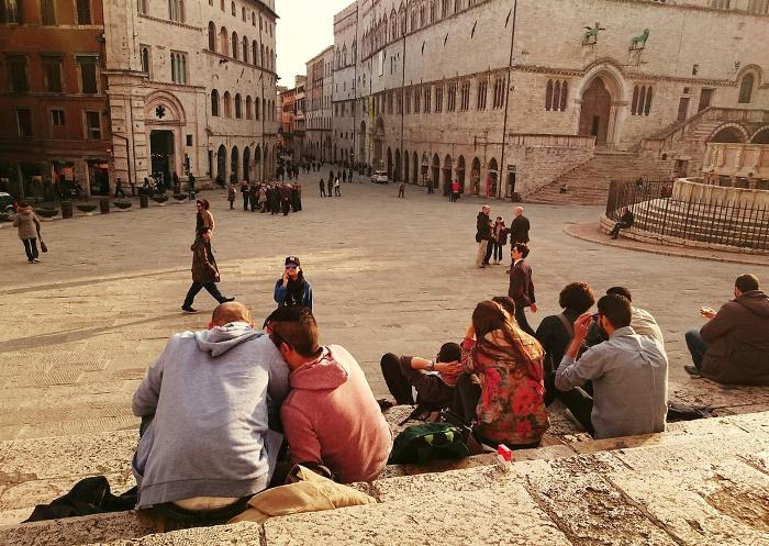 Perugia town centre