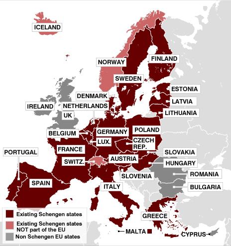 Schengen states