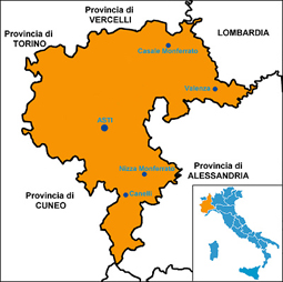 Monferrato map