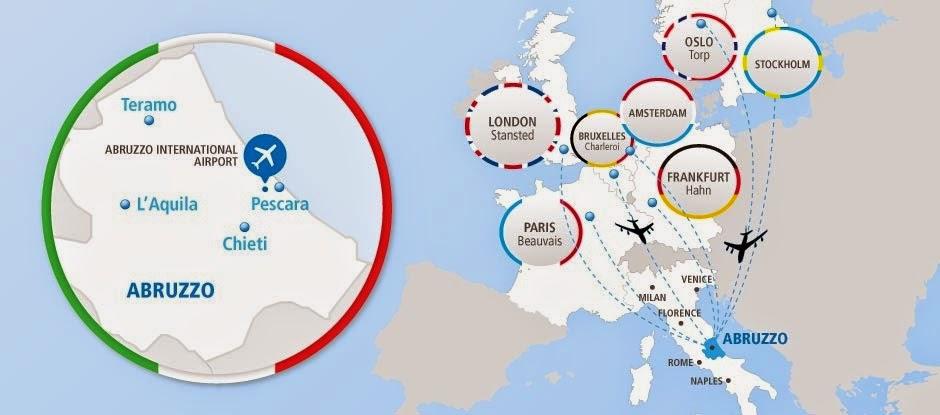 main flights from Pescara