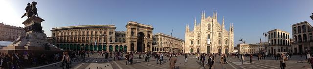 Panorama of Milan Cathedral