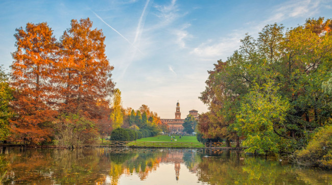 Milan Autumnal colours