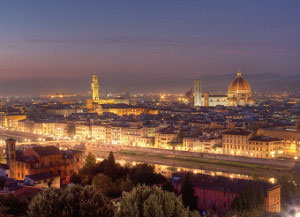 Romantic view of Florence